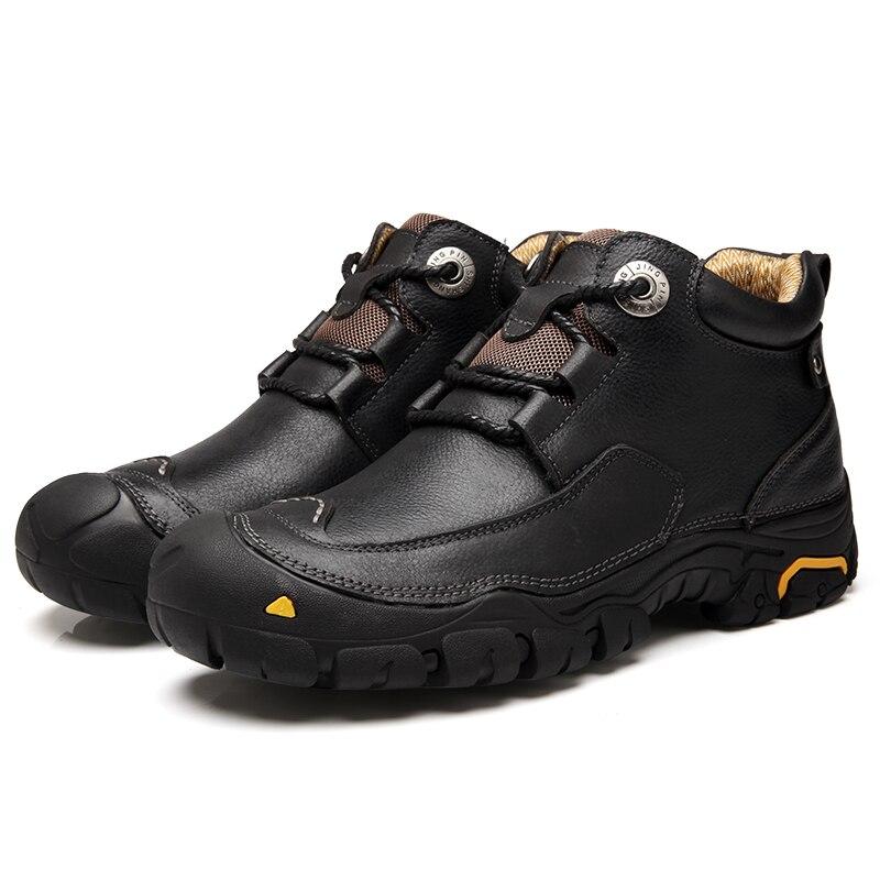 Zapatos Libre Retro La Genuino 386 Moda Hecho Botas Otoño Aire Trabajo Cuero De Deportes black 100 Xx Brown Los Hombres Al Mano A qFTZX