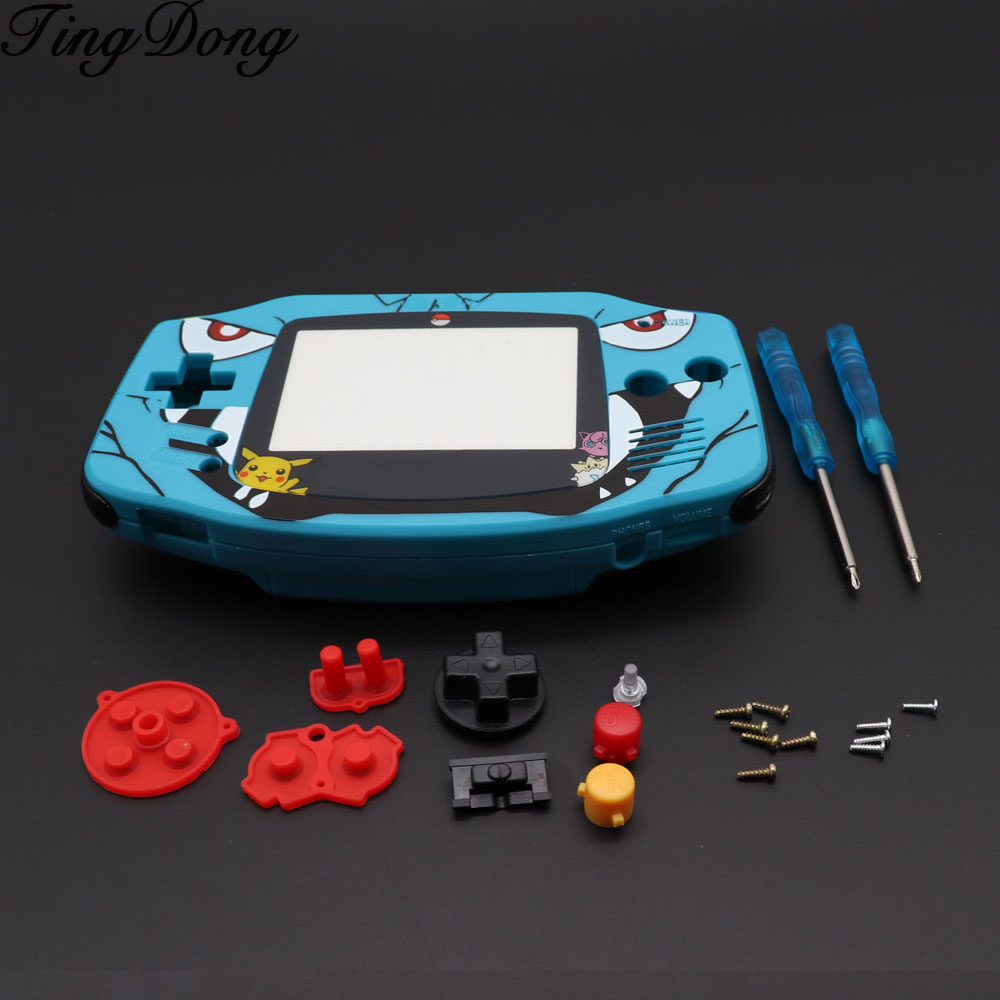 TingDong Cartoon Limited Edition Full Housing Shell replacement for Nintendo Gameboy Advance for GBA Game Console Cover Case