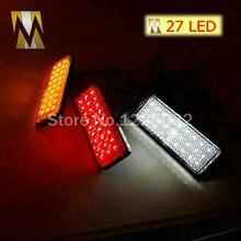 Красный объектив Прямоугольник Красный Светодиодный отражатель тормозной светильник для универсального мотоцикла автомобиля грузовика Высокая производительность задний светильник s задний светильник