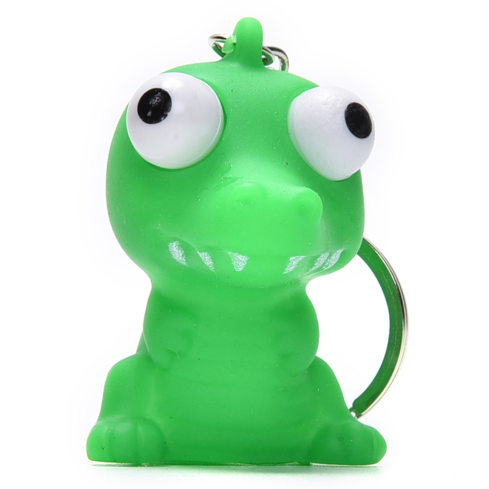 Bag Parts & Accessories Fun Antistress Extruding Big Raised Eyes Doll Keychain Squeezing Toys Novelty Bag Parts Accessories