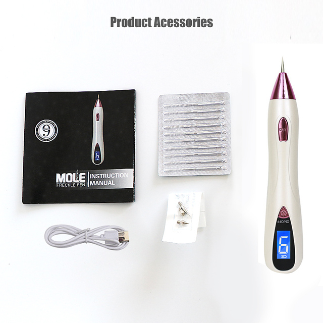 9 Level LCD Plasma Pen LED lighting Laser tattoo/Mole Removal Machine Face Care skin Tag Removal Freckle Wart Dark Spot remover