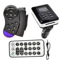 Bezprzewodowy zestaw głośnomówiący Bluetooth Zestaw Samochodowy Odtwarzacz MP3 FM Transmitter Modulator LCD USB SD LCD Remote + Steering wheel control