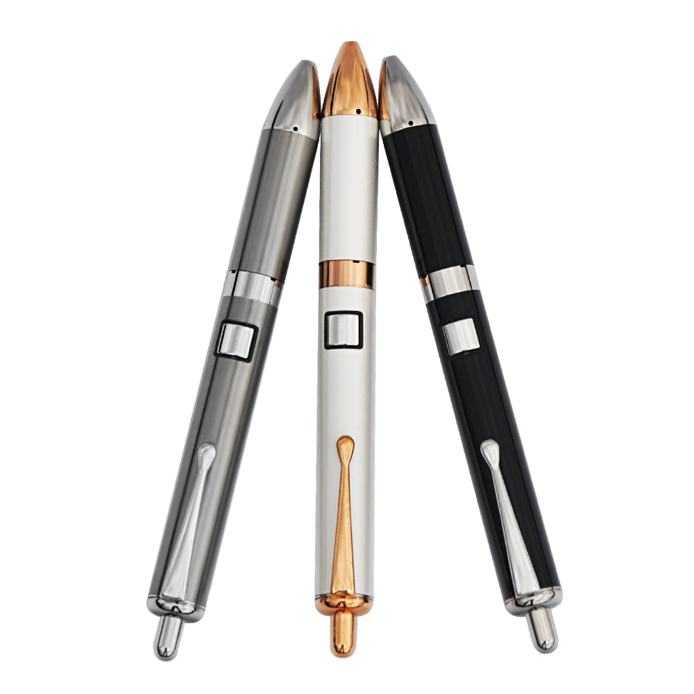 Longmada Ifocus Pen Dual Quartz Heating Coil E cigarette Starter Kit Vape Wax Vaporizer Tank Variable Voltage 710 Dab Battery