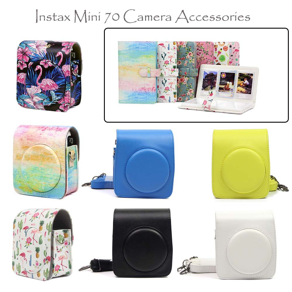 Qualität PU Leder Kamera Fall/Tasche/Abdeckung und Instax Mini Film Fotoalbum für Fuji Fujifilm Instax Mini 70 Instant Film Kamera