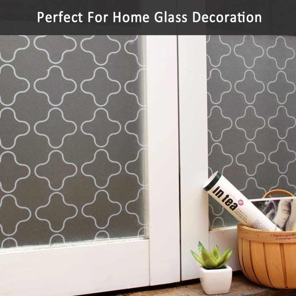 Privacy Window Film Stained Glass Door Film Static Cling Window Tint Removal Window Decal Reusable Heat Control Anti UV in Decorative Films from Home Garden