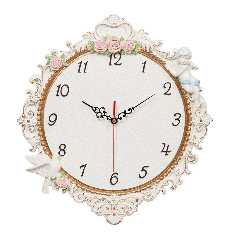 Casa Shabby Chic Jam Dinding Murale Reloje Klokken Wandklokken Zegar Reloj Pared Horloge Mural Relogio De Parede Saat Wall Clock