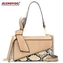 Women Handbag Snake Print Crossbody Bag 2020 New Elegant Bow Satchel Shoulder To