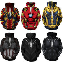 Vingadores Infinito Guerra Ferro Aranha Casaco Moletom Com Capuz Camisola Do Homem Aranha/Black Panther/iron Man hero Traje Cosplay(China)