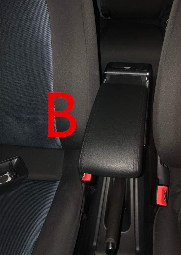 Для Volkswagen Polo подлокотник коробка Polo V Универсальный 2009- Автомобильная центральная консоль Модификация аксессуары двойной приподнятый с USB - Название цвета: B black black line
