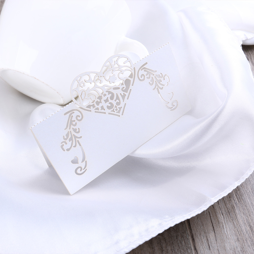 50pcs Laser Cut Love Birds Table Name Cards Place Cards Wedding ...