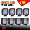 8x 27W LED WORK LIGHT BRIDGELUX LED OFFROAD LAMP UTE BOAT ATV BAR 12V 24V 4WD