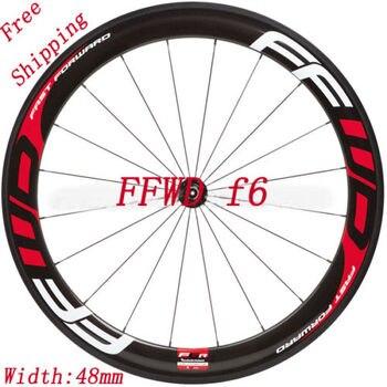 Наклейки/наклейки для шоссейного велосипеда/двух колес обода для FFWD F6 глубина 48 мм Бесплатная доставка