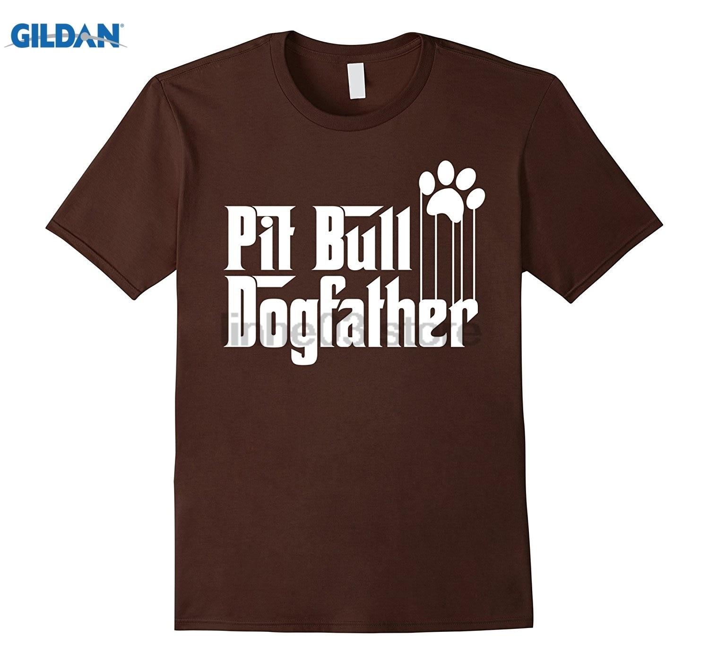 GILDAN Mens Pit Bull Dog Dad T-Shirt Dress female T-shirt