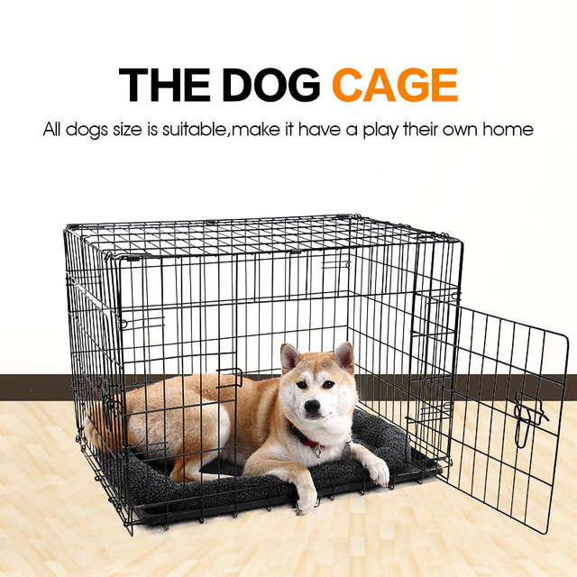 Foldable Pet Crate Kennel Metal Dog Cat Iron Cage Suitcase Exercise  Pet Cage Universal Cage for Pet Dog Cat Rabbit House