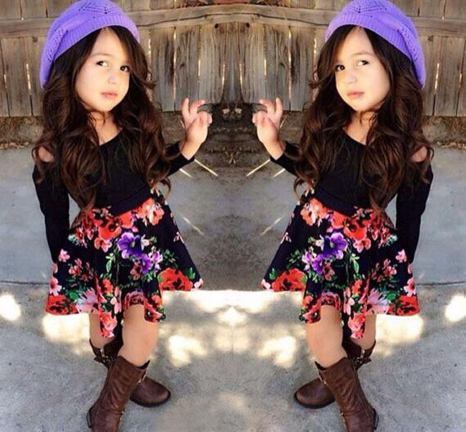 932a29832fa1 Free Shipping Baby Girls Clothing Sets Summer Street sense fashion ...