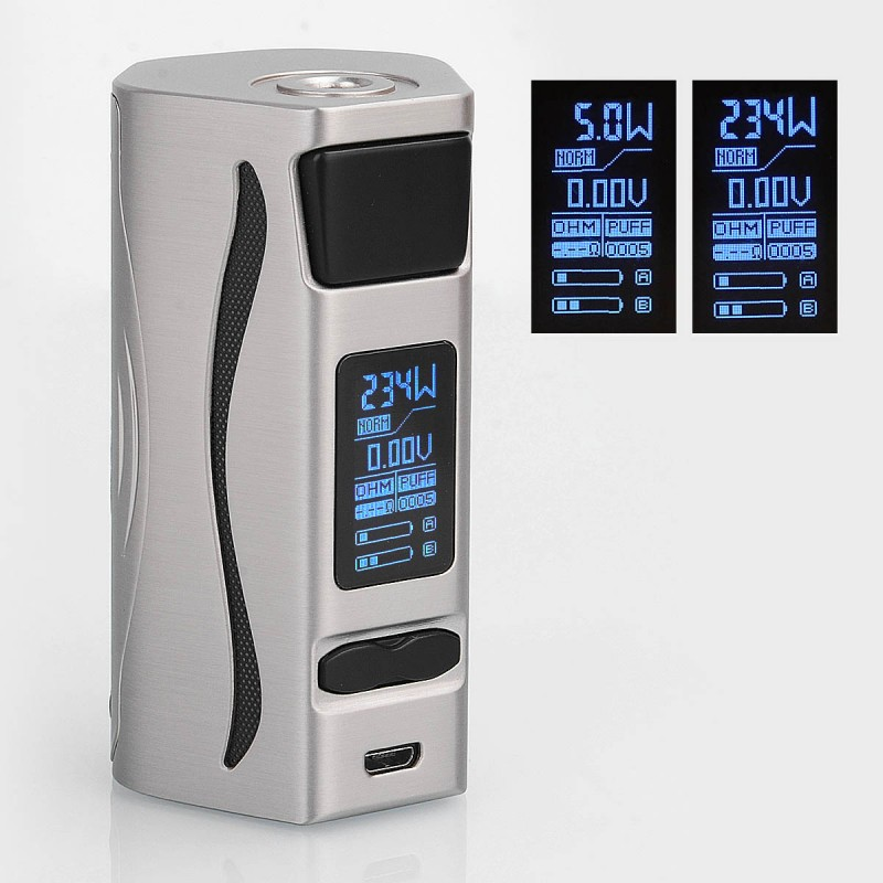 Original IJOY Genie PD270 234W TC Temperature Control Dual 20700 VW Variable Wattage Box Vape Mod Compatible with 30mm Atomizer цена