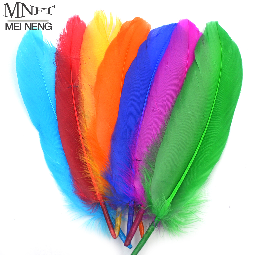 MNFT 20PCS/Lot  Mixed Color Goose Feather Quill DIY Fishing Fly Tying Material Fly Wings Tail Making Dry Wet Fly Tying Material