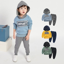 2018 New Spring Autumn Children Sets Clothing For Boys Sport Suit Childrens Coat Two-Piece Sweatershirt