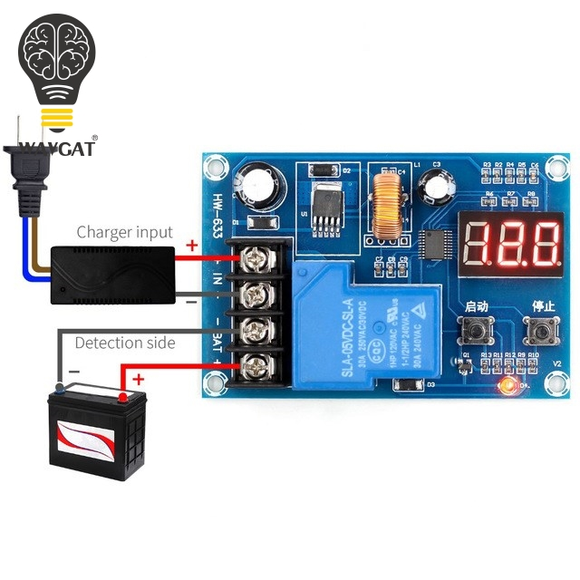 WAVGAT XH-M604 Battery Charger Control Module DC 6-60V Storage Lithium Battery Charging Control Switch Protection BoardWAVGAT XH-M604 Battery Charger Control Module DC 6-60V Storage Lithium Battery Charging Control Switch Protection Board