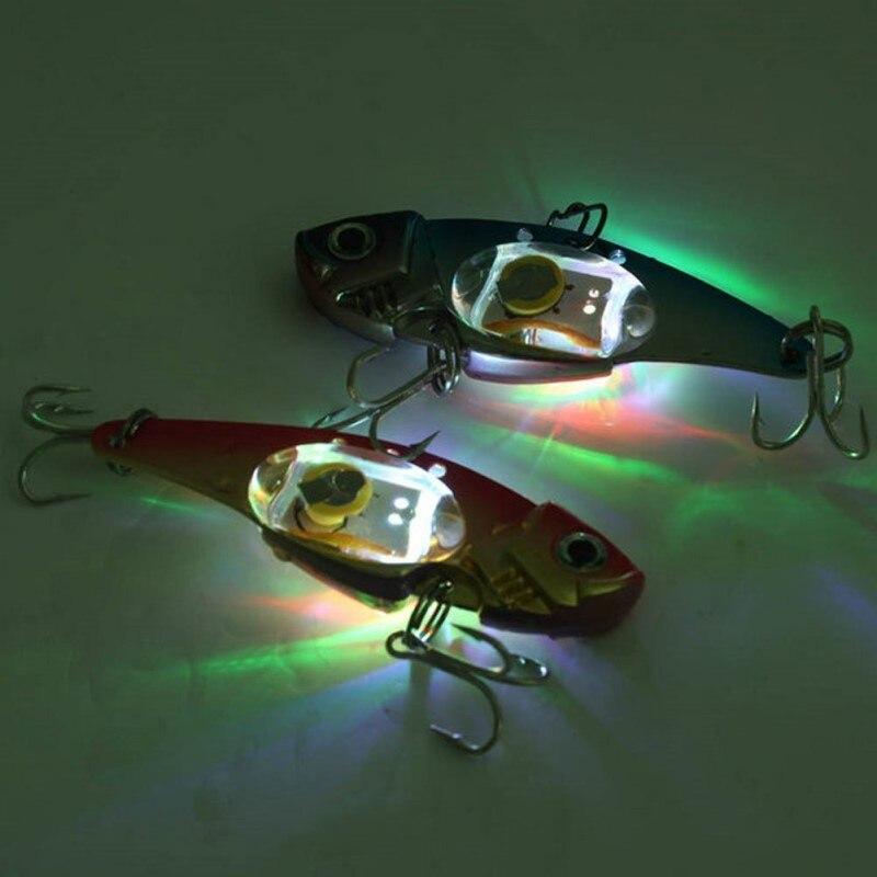 Sous-marine LED LIGHED VIBRATION NAUFRAGE LURE-MER JIGGING LED Clignotante Lumière Squid Lure Bait sondeur