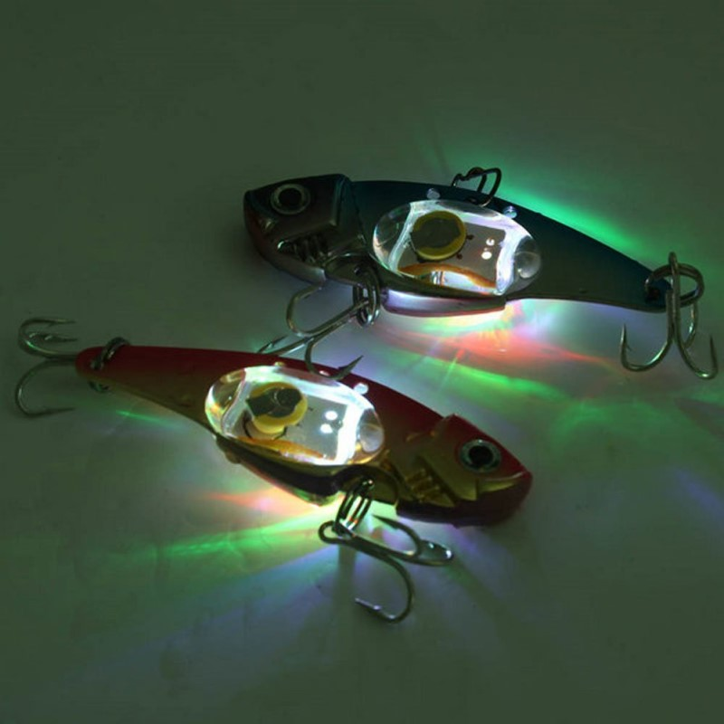 Underwater LED LIGHED VIBRATION SINKING LURE-SALTWATER JIGGING LED Flashing Light Squid Bait Lure fishfinder