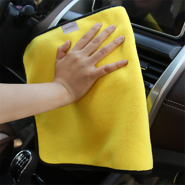Super Absorbency Car Wash Microfiber Towel Car Cleaning Drying Cloth Hemming Car Care Cloth Detailing Car Wash Towel For Toyota