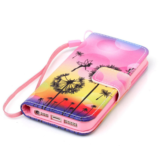 For Apple iPhone 5C Fashion Retro Pattern Stand Flip Wallet Leather Case