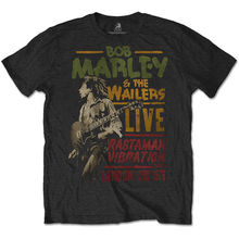 Bob Marley The Wailers Rastaman Vibration Tour Official Tee T-Shirt Mens Unisex Shirt More Size and Colors