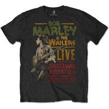 Bob Marley The Wailers Rastaman Vibration Tour Official Tee T-Shirt Mens Unisex Tee Shirt Unisex More Size and Colors marley positive vibration bt em jh133 dn