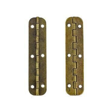 10 sztuk brązu Archaize 65*15MM owalne żelaza długi zawias drewniane pudełko zawias pudełko tanie i dobre opinie Zawiasy iron