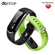 DOITOP New Arrival Coronary heart Fee Tracker Sensible Band Bracelet Wristband Pedometer Calorie Health Tracker Smartband for IOS Android