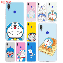 Doraemon A Blue TPU Accessories Case for Xiaomi Redmi Note 6 7 S2 GO 4 4X 5 5A Pro Gift Fit Pattern Customized Coque Cases