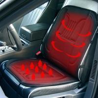 12V Heated Back Massage Seat Car Home Office Seat Massager Heat Vibrate Cushion Back Neck Massage