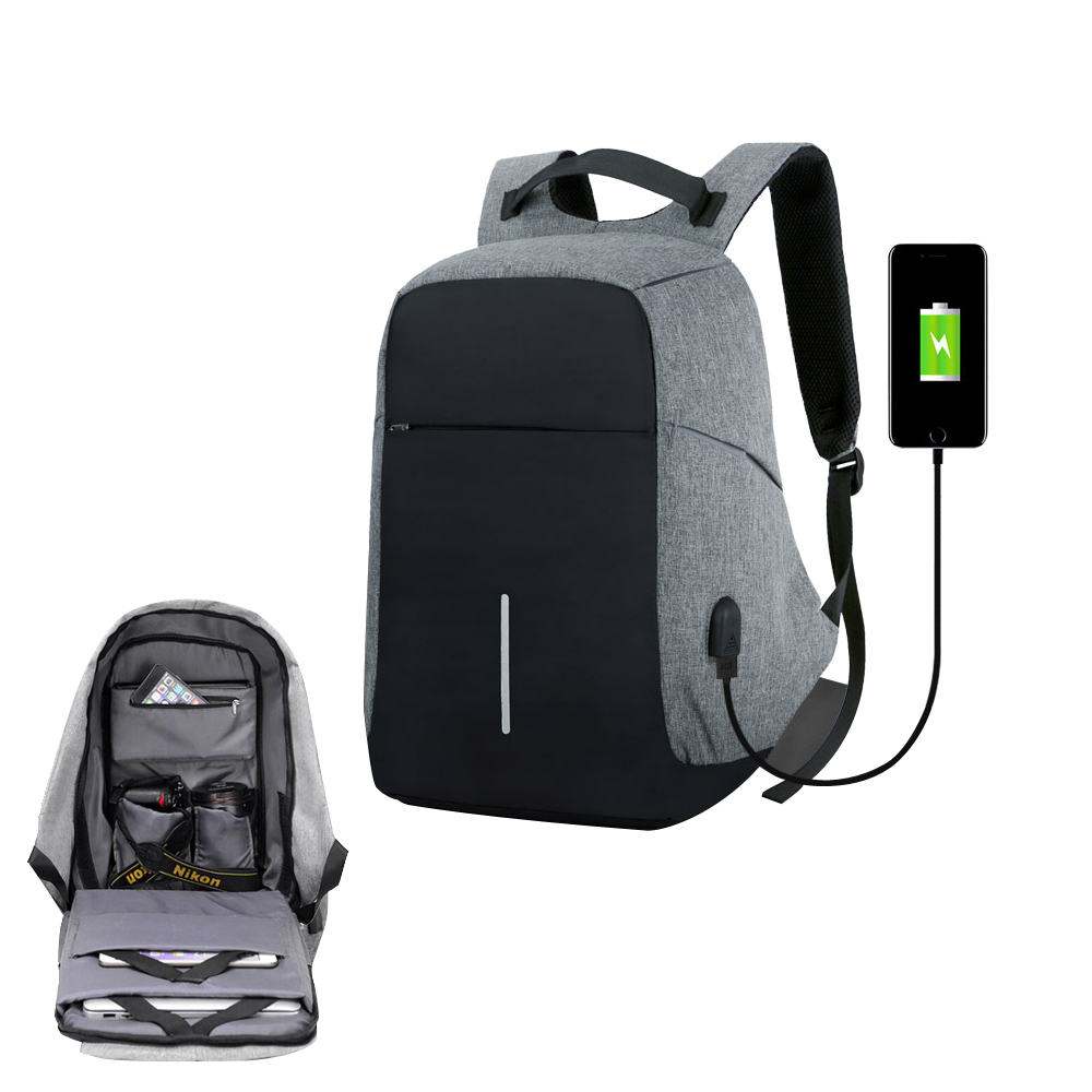 Usb Charge Anti Theft Waterproof Men's Business Backpack Women Travel Bag Male Security 15 Inches Laptop Teenager Big School Bag