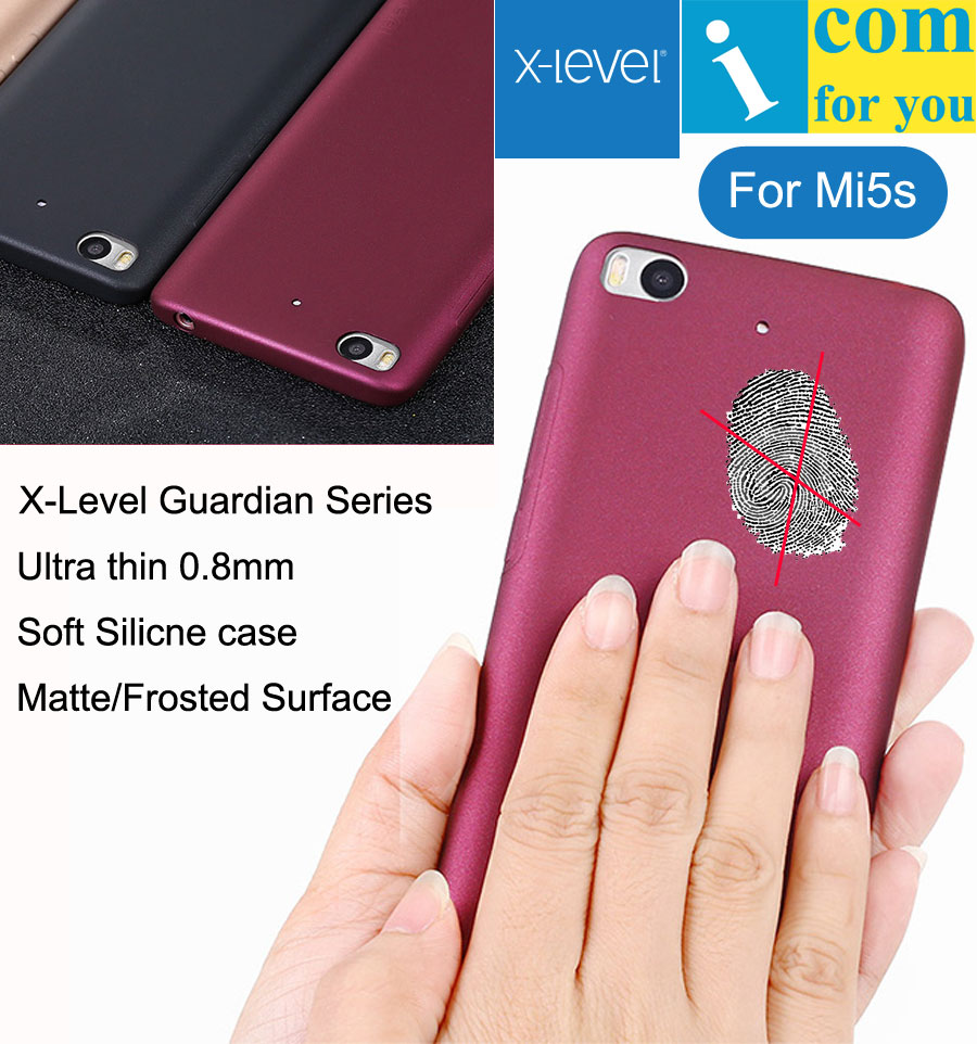 X-Level Guardian Soft Silicone Cover Case For Xiaomi Mi5S Snapdragon 821 Ultra thin X Level TPU Protective Skin Mi5S Plus
