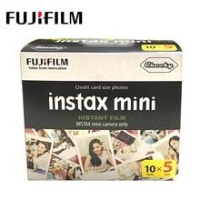 Fujifilm instax 50 folhas, folhas brancas para fuji instax mini 9 8 7s 25 50 90 sp1 papel de filme de câmera instantânea
