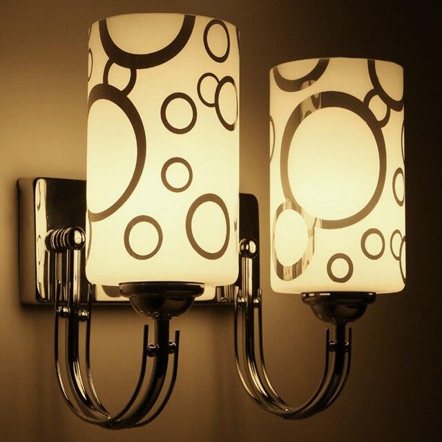 Modern LED Wall lamp bed lights arm bathroom light silver Bedside ...