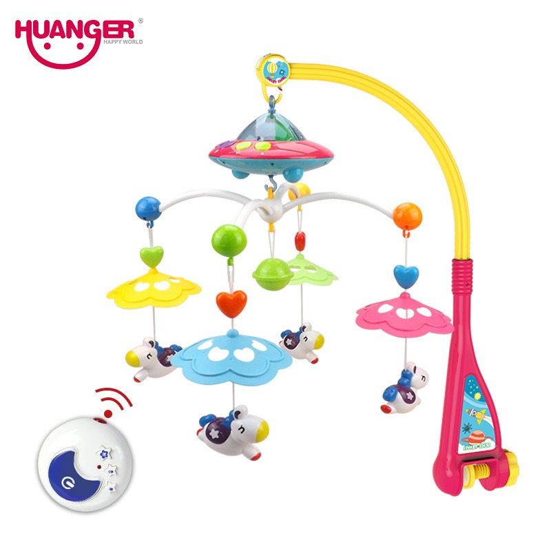 Realistic Baby Rattle Infant Toys For 0-12 Months Crib Mobile Bed Bell With Music And Sky Stars Projection Early Learning Kids Toy Bedding Sets