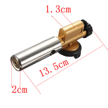 Electronic Ignition Copper Flame Butane Gas Gun Maker Torch Lighter Outdoor Camping Picnic Welding Equipment #2168