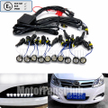 10Pc Universal LED Eagle Eye Daytime Running Light Flexible Fog Light DRL E mark With Control Box