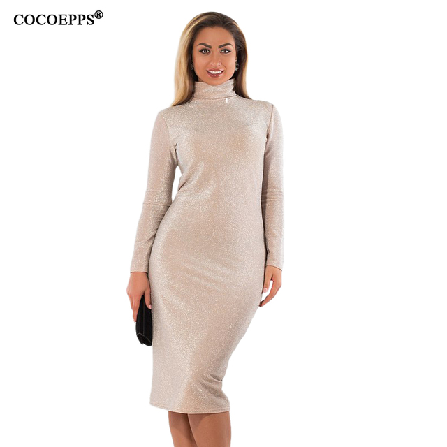 Cocoepps Plus Size Winter Women Dresses 2018 Sexy Bandage Bodycon