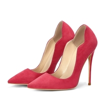 New Fashion Women Shoes Pumps 12CM High Thin Heels  Pointed Toe Women Pumps Large Size Slip on Red Pumps Lady Dress Pumps цена 2017