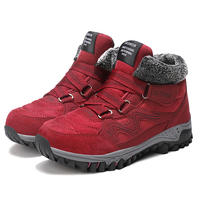 ARANSUE Good quality women climb shoes resistance boots winter warm shoe for ladies thick bottom ankle boot big size 35 42