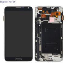 Per Samsung Galaxy Note 3 N9005 Lcd schermo di Visualizzazione Dello Schermo + Touch In Vetro Digitizer Telaio di Montaggio in grado di regolare la luminosità