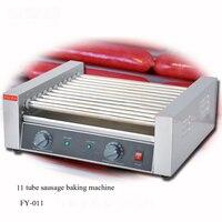 1 adet yüksek kaliteli 11 tüp sosis pişirme makinesi hot dog fırında sosis makinesi ısıtma makinesi dog rulo