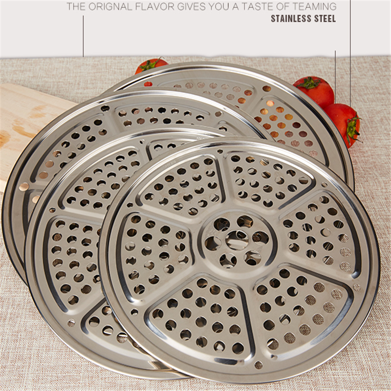 304 Stainless Steel Good Quality Kitchen Gadgets Steaming Compartment Large Boiler Steaming Plate With Steamed Rice Cooker Rack