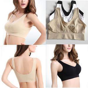 0eebba543c fitness women push up black white sports bra plus size 3XL yoga bra