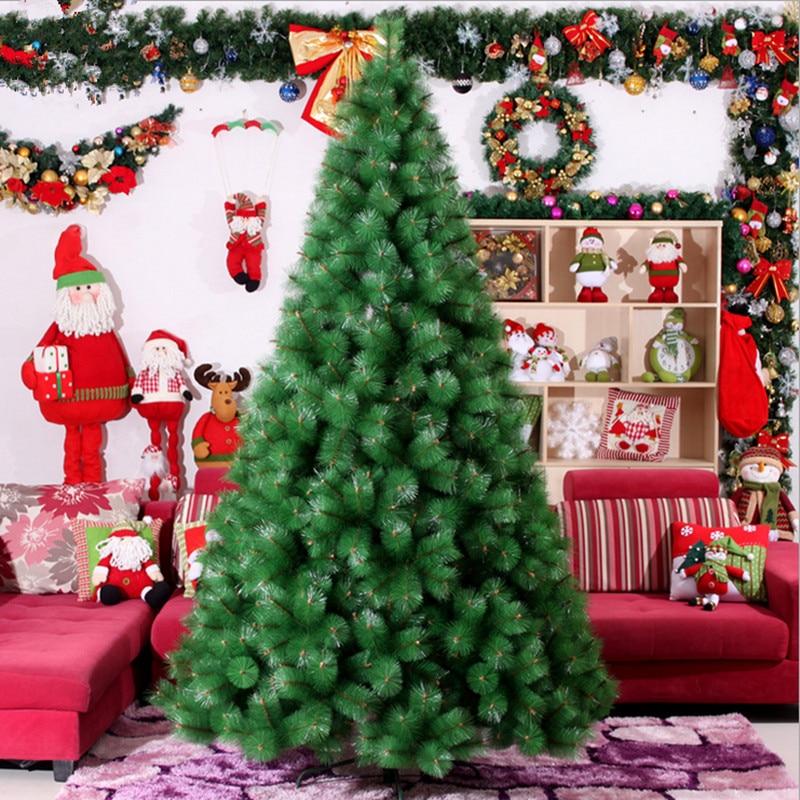 Large Christmas Tree: 2.4 M / 240cm Large High Grade Christmas Tree Pine Needle