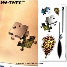 Nu-TATY Behind Human Skin 3d Temporary Tattoo Body Art Flash Tattoo Stickers 19x9cm Waterproof Tatoo Home Decor Wall Sticker