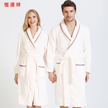 Robe female bathrobe male lovers thickening plus velvet flannel sleepwear  lounge autumn and winter long design